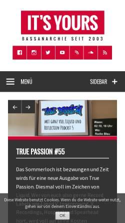 Vorschau der mobilen Webseite www.itsyours.info, It's Yours!