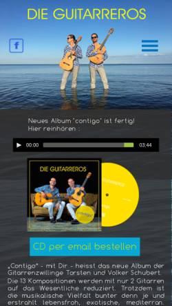 Vorschau der mobilen Webseite www.die-guitarreros.de, Flamenco Gitarrenduo