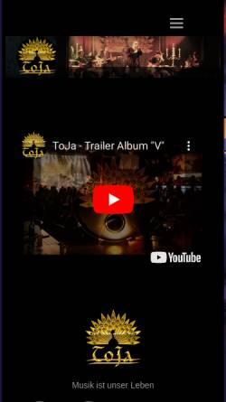 Vorschau der mobilen Webseite www.toja-rock.com, Toja Rock