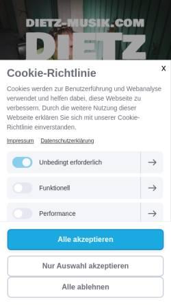 Vorschau der mobilen Webseite dietz-musik.com, Dietz