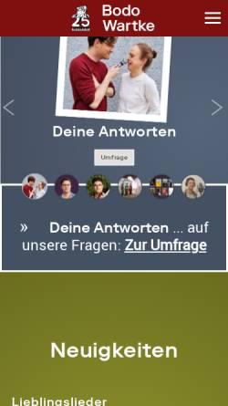 Vorschau der mobilen Webseite www.bodowartke.de, Wartke, Bodo