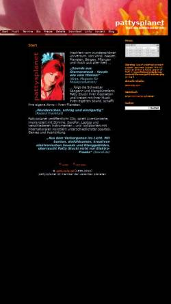 Vorschau der mobilen Webseite www.pattysplanet.de, Pattysplanet - Elektronische Musik mit Wärme