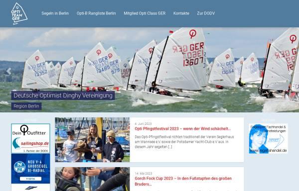 Vorschau von www.opti-berlin.de, Deutsche Optimist Dinghy Vereinigung - Region Berlin