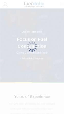 Vorschau der mobilen Webseite www.fueldata.com, Fueldata Information Systems GmbH