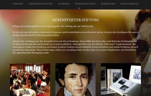 Vorschau von www.siebenpfeiffer-stiftung.de, Siebenpfeiffer Stiftung