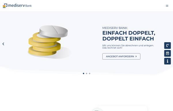 Vorschau von mediserv.de, Mediserv Abrechnungsservice für Heilberufe GmbH