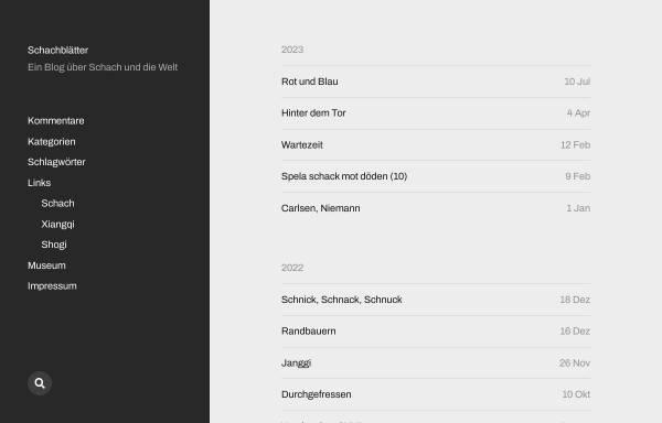 Vorschau von schachblaetter.de, Schachblätter
