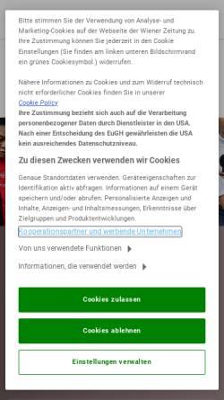 Vorschau der mobilen Webseite schach.wienerzeitung.at, Austria Schachserver der Wiener Zeitung