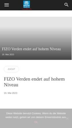 Vorschau der mobilen Webseite www.ipzvnord.de, IPZV Nord e.V.