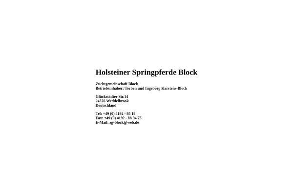 Vorschau von www.holsteiner-springpferde-block.de, Holsteiner Springpferde Block