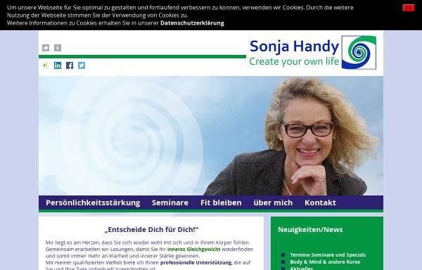 Vorschau von www.shtrainer.de, Sonja Handy - Personal Training and Coaching