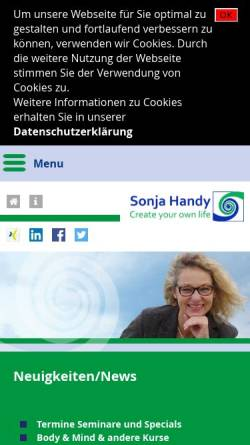 Vorschau der mobilen Webseite www.shtrainer.de, Sonja Handy - Personal Training and Coaching