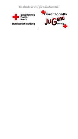 Vorschau der mobilen Webseite www.brk-gauting.de, BRK-Bereitschaft Gauting
