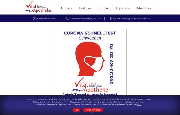 Vorschau von www.vitalapotheke.net, Vital Apotheke