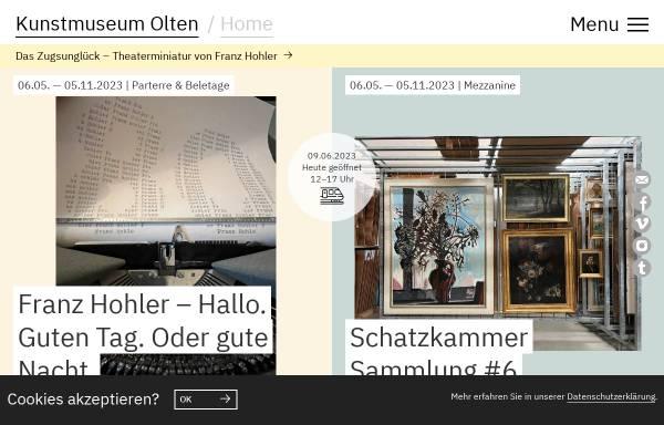 Vorschau von www.kunstmuseumolten.ch, Kunstmuseum Olten