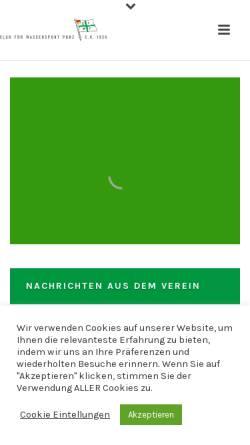 Vorschau der mobilen Webseite www.cfwp.de, Club für Wassersport Porz e.V. 1926