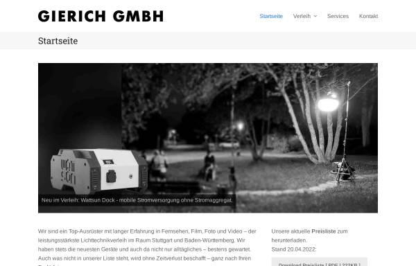 Vorschau von www.gierich.de, Gierich - Film Licht Technik GmbH