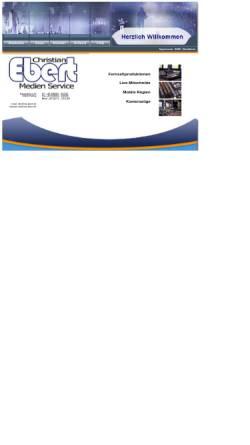 Vorschau der mobilen Webseite www.ms-ebert.de, Medien-Service Christian Ebert