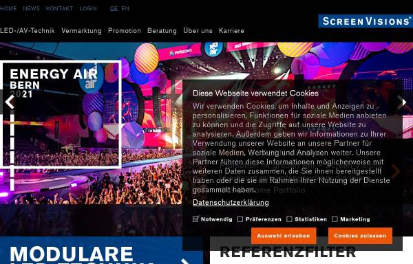 Vorschau von www.screenvisions.com, Screen Visions GmbH