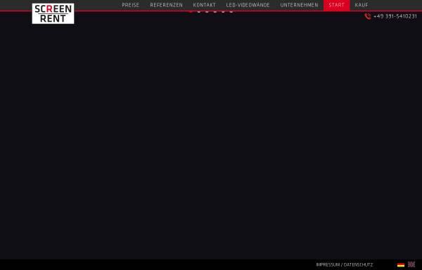 Vorschau von www.screen-rent.com, Screen-Rent, Inh. Dipl.-Kfm. Dirk Roswandowicz