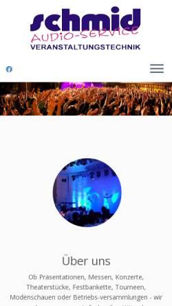 Vorschau der mobilen Webseite www.schmid-audio.de, Audio-Service Schmid, Inh. Peter Schmid