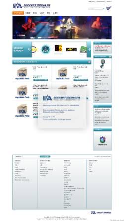 Vorschau der mobilen Webseite www.concept-media-pa.de, Concept Media Veranstaltungstechnik, Inh. Uwe Bertet