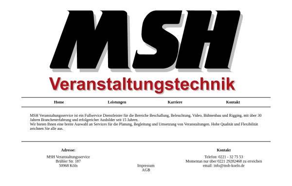 Vorschau von www.msh-koeln.de, MSH GbR