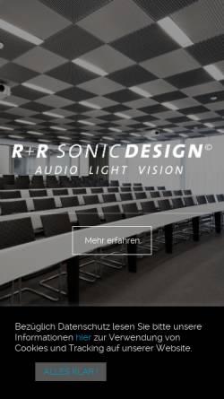 Vorschau der mobilen Webseite www.sonicdesign.ch, R+R Sonicdesign AG