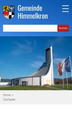 Vorschau der mobilen Webseite www.himmelkron.de, Gemeinde Himmelkron (Lanzendorf, Gössenreuth)