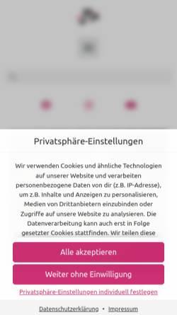 Vorschau der mobilen Webseite www.jojo-zentrum.de, Jojo - Zentrum für Artistik und Theater
