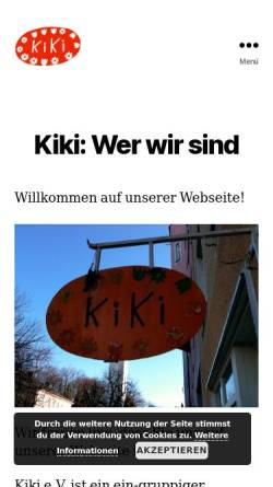 Vorschau der mobilen Webseite www.kindergarten-kiki.de, Eltern-Kind-Initiative KiKi e.V.