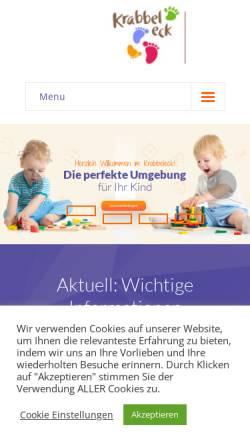 Vorschau der mobilen Webseite www.krabbeleck.de, Kinderkrippe Krabbeleck in München-Aubing