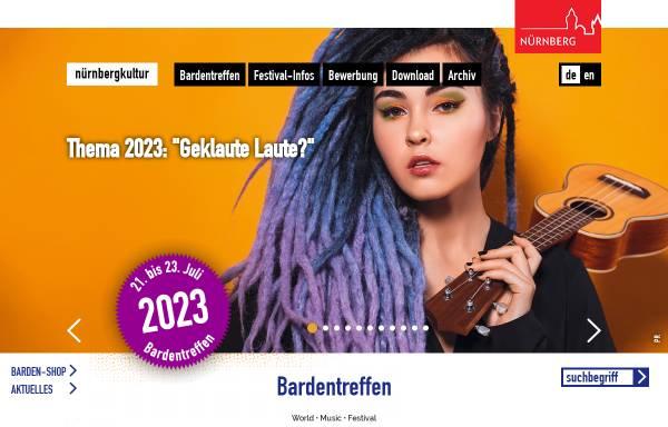Vorschau von www.bardentreffen.de, Bardentreffen Nürnberg