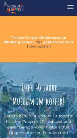 Vorschau der mobilen Webseite www.museum-im-koffer.de, Kindermuseum
