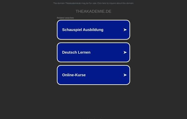 Vorschau von www.theakademie.de, Theakademie Berlin