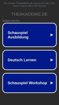 Vorschau der mobilen Webseite www.theakademie.de, Theakademie Berlin