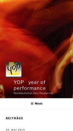 Vorschau der mobilen Webseite www.y-o-p.de, Year of Performance