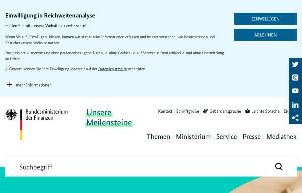 Vorschau von www.bundesfinanzministerium.de, Bundesministerium der Finanzen (BMF)