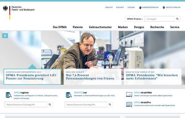 Vorschau von www.dpma.de, Deutsches Patent- und Markenamt (DPMA)