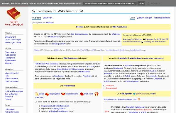 Vorschau von www.wiki-aventurica.de, Wiki Aventurica