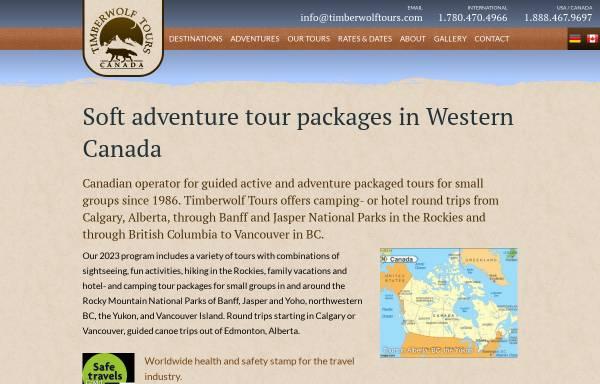 Vorschau von www.timberwolftours.com, Timberwolf Tours, Edmonton