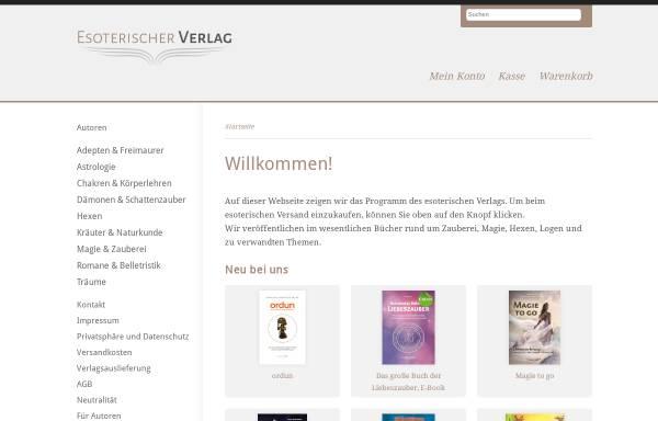 Vorschau von www.esoterischer-verlag.de, Esoterischer Verlag & Versand, Paul Hartmann