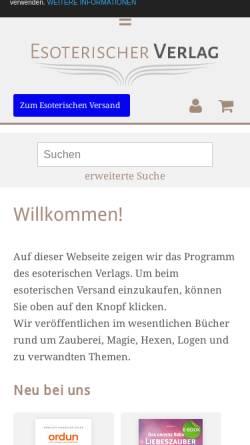 Vorschau der mobilen Webseite www.esoterischer-verlag.de, Esoterischer Verlag & Versand, Paul Hartmann