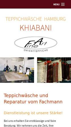Vorschau der mobilen Webseite www.teppichwaesche-hamburg.de, Fine Art Orientteppiche