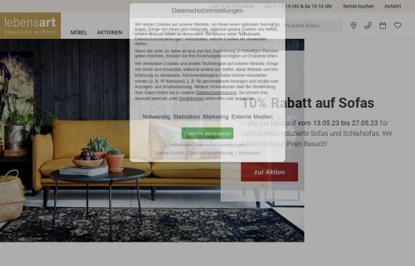 Vorschau von www.lebensart-berlin.de, Lebensart Möbelhaus Berlin