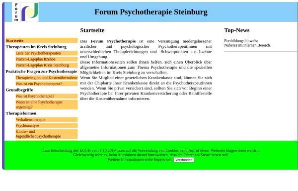 Vorschau von www.psychotherapie-steinburg.de, Forum Psychotherapie Steinburg e.V.