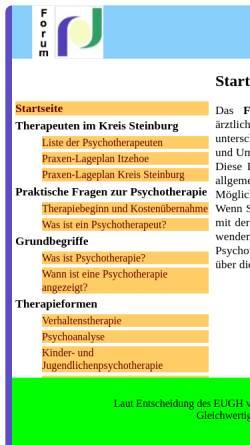 Vorschau der mobilen Webseite www.psychotherapie-steinburg.de, Forum Psychotherapie Steinburg e.V.