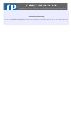 Vorschau der mobilen Webseite stadtpolitik-heidelberg.de, Stadtpolitik Heidelberg
