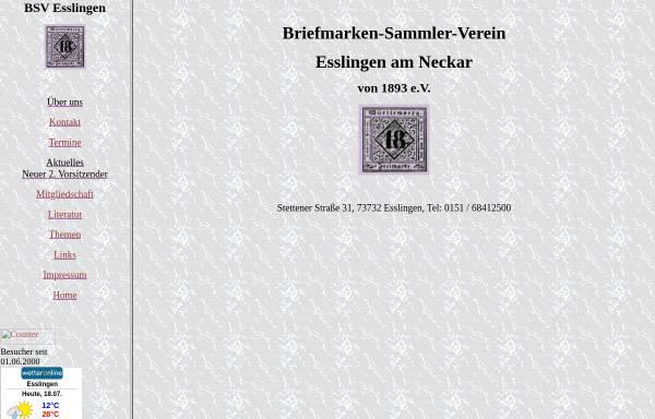 Vorschau von www.bsve.de, Briefmarken-Sammler-Verein von 1893 e. V.