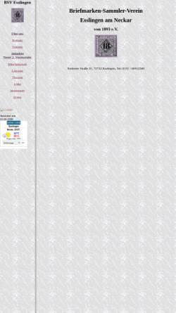 Vorschau der mobilen Webseite www.bsve.de, Briefmarken-Sammler-Verein von 1893 e. V.
